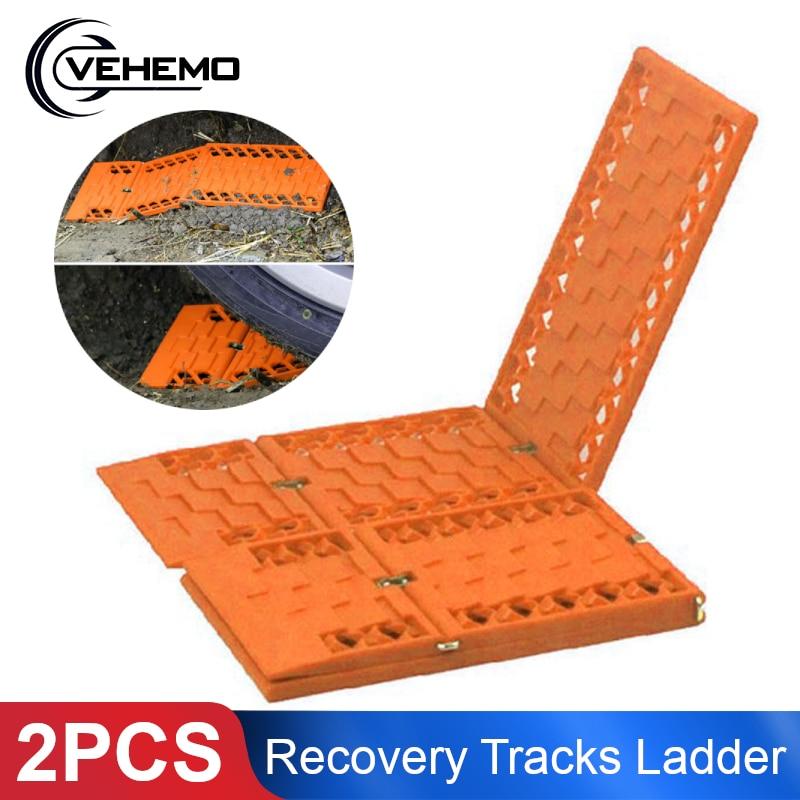 2Pcs Recovery Tracks Folding Car Sand Ladder Snow Chain Sand Track Tyre Grip Recovery Track Car Tire Ladder