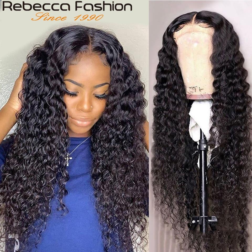 Rebecca onda profunda peruca frontal pré arrancadas