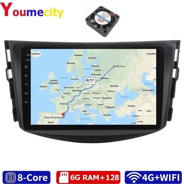 Youmecity reproductor Multimedia con Gps para coche, Radio, vídeo, DVD, 2Din, Android 10,0, para Toyota RAV4 Rav 4 2007 2008 2009 2010 2011 2012