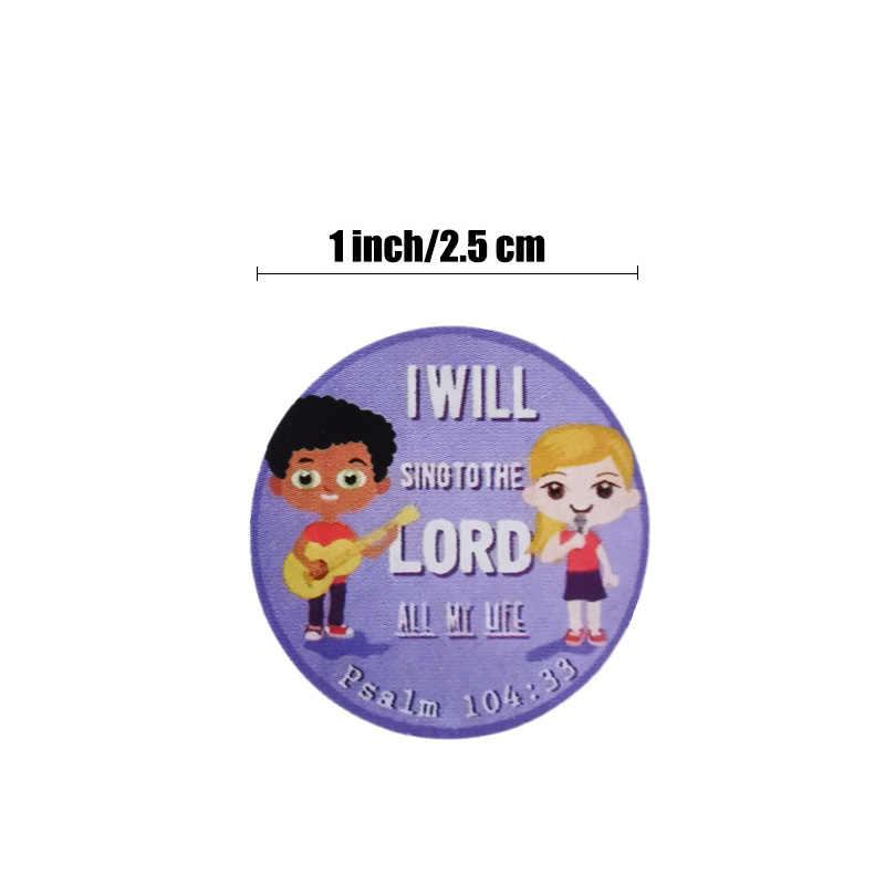 คริสเตียน Verse สติกเกอร์ 500 ชิ้นสำหรับเด็กศาสนาสติกเกอร์สำหรับงานแต่งงานตกแต่งและใช้สำหรับ Church School Decor