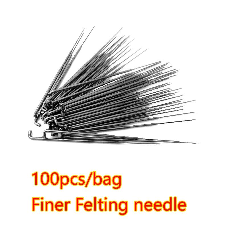 Free Shipping 100 Pcs Triangular Felting Needle - Coarse Felting Needle/Finer Felting Needle Made In China