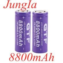 2-10 pces novo 3.7v 26650 bateria 8800mah li-ion bateria recarregável para lanterna led tocha li-ion bateria acumulador