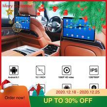 10,1 дюймов Android 9,0 Автомобильный подголовник монитор 1080 P HD 1080 P видео сенсорный экран WIFI/Bluetooth/USB/SD/HDMI/FM MP5 видео плеер 2,5