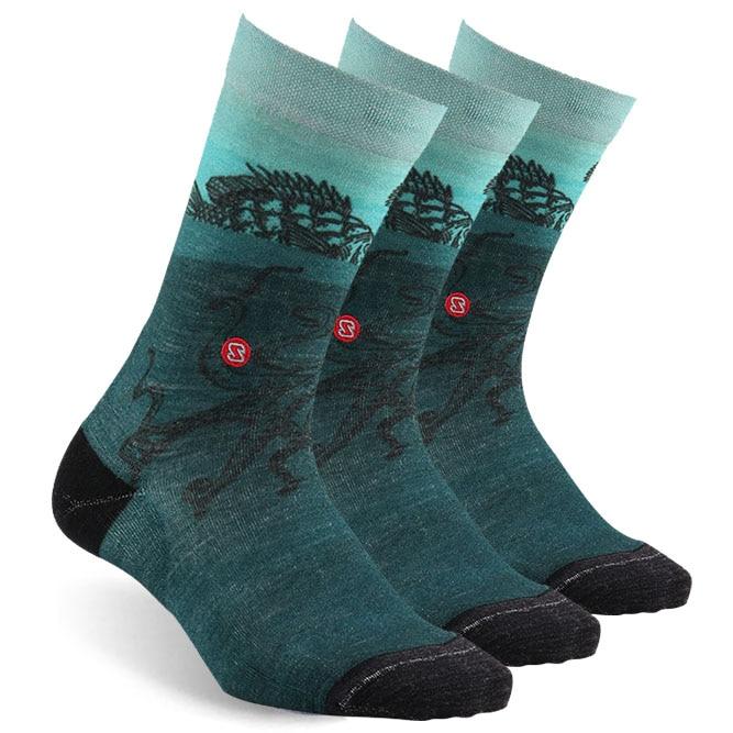 Printing  Socks Athletic Socks, ZEALWOOD Unisex Merino Wool Ultra-Light Running  Socks 1/3 Pairs