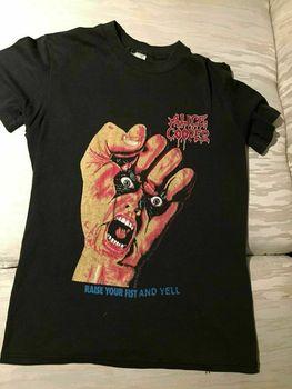 Alice Cooper-Camiseta Unisex de algodón con realce de tu puño, negra, todas...