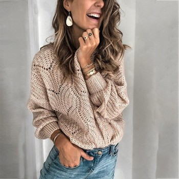 Women Casual  Sweater Autumn And Winter New Arrive Knit Pure Color Mohair Hollow Colthing