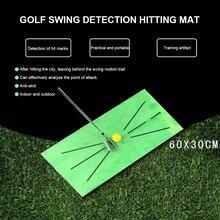 Treinamento de golfe ao ar livre esteira detecção balanço rebater golfe jardim grassland prática equipamento treinamento malha auxílio almofada ferramenta golfe