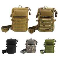 Men Tactical Molle Pouch Waist Pack Small Pocket Military Running Pouch Camping Bags Mobile Phone Bag Travel Aupply
