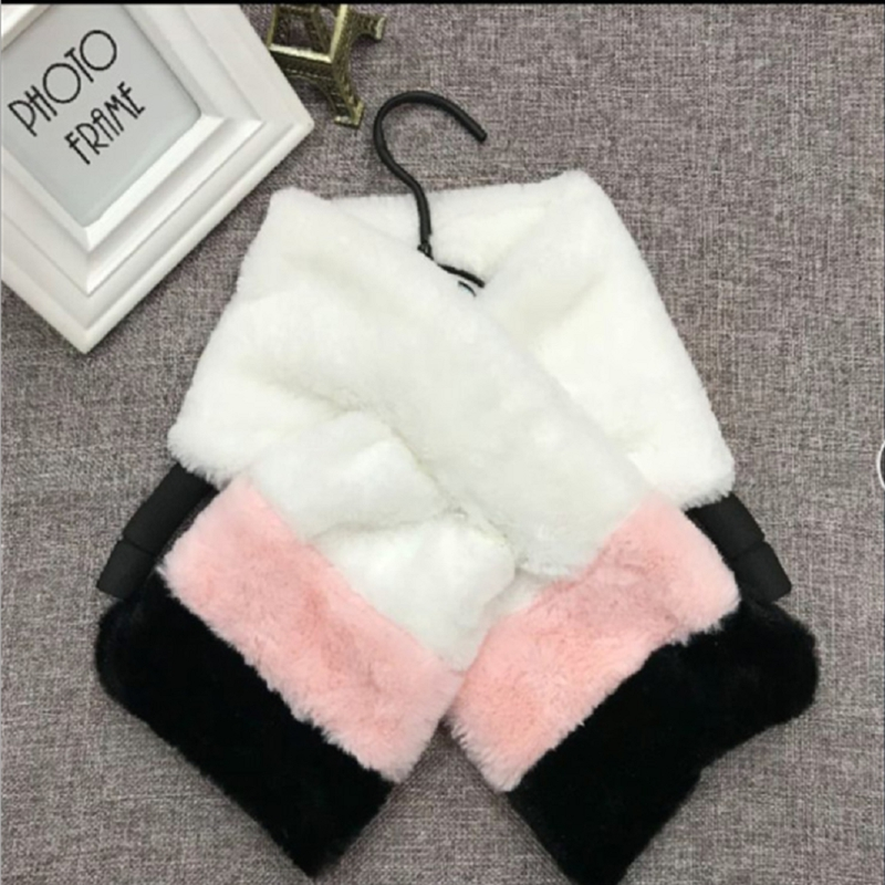 Soft Women Scarf Children Scarf Winter Warm Fur Fluffly Scarves Collar Wrap