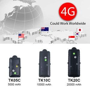 Image 2 - 4G 3G GPS 추적자 차 중국 제일 GPS TK20G TK05G 방수 휴대용 재충전 전지 WiFi SD 자료 기록 장치 GSM 음성 감시자 벌레