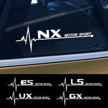 2 autocollants pour vitres latérales de voiture, en vinyle, pour Lexus RX 300 IS 250 GX 400 UX 200 NX LX LS GS ES CT200h Fsport, accessoires automobiles