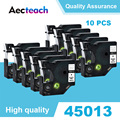 Aecteach 10 шт. 12 мм Совместимость для Dymo D1 лента этикеток для принтера лента 45013 45010 для производитель Этикеток Dymo LabelManager 160 280 260