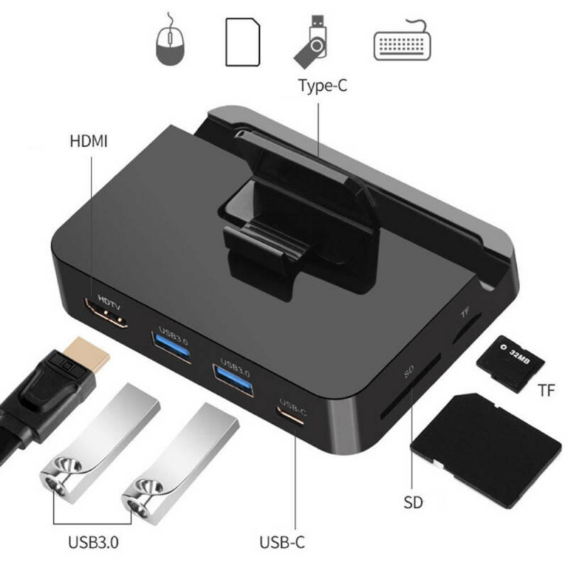 Plug And Play Practical TYP-C USB 3.0 Port Mobile Phone Expansion Charging Base Dock For Samsung HDMI Desktop Extender!