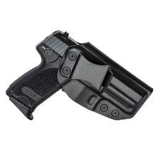 Kydex dentro do cós coldre para hk usp 9mm .40 estojo escondido estojo iwb mão direita