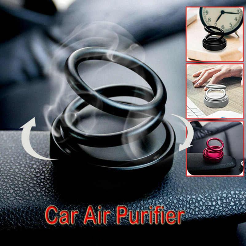 Purificador de aire de coche diseñado giratorio de doble anillo de alta gama, fragancia de ambientador de aire de coche, venta