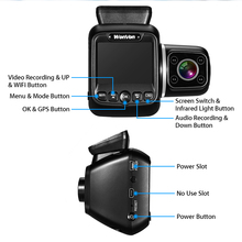 WonVon Car DVR Dual Dash Cam 1080P Mini DVRs GPS WiFi Camera IMX323 2.0 LCD IR Night Vision for Uber Lyft Truck Taxi