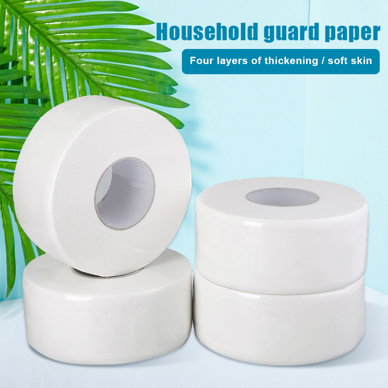 Wholesale Thick Large Toilet Paper Roll Household Home Bath Soft Safe Toilet Paper Roll Primary Wood Pulp Toilet Paper Tissue T6