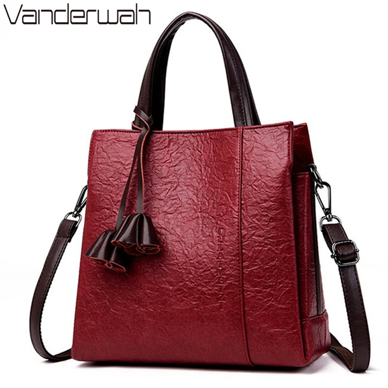 Real Leather Flower Luxury Handbags Women Bags Designer Bark Pattern Handbags Female Shoulder Crossbody Bags For Women 2019 Sac