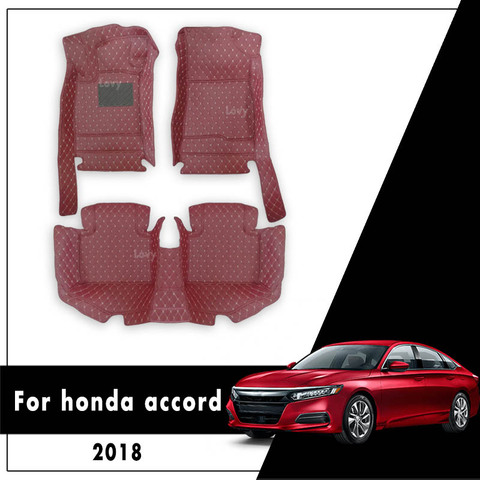 tapetes do carro 2020 2019 2018 para honda accord x carro tapete de couro do