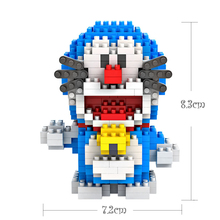 LOZ jigsaw toy DIY Doraemon cat jingle cat micro-drill building block small particles toys for children  toy  christmas vip link loz 150pcs m 9138 pokemon gengar building block educational toy for cooperation ability