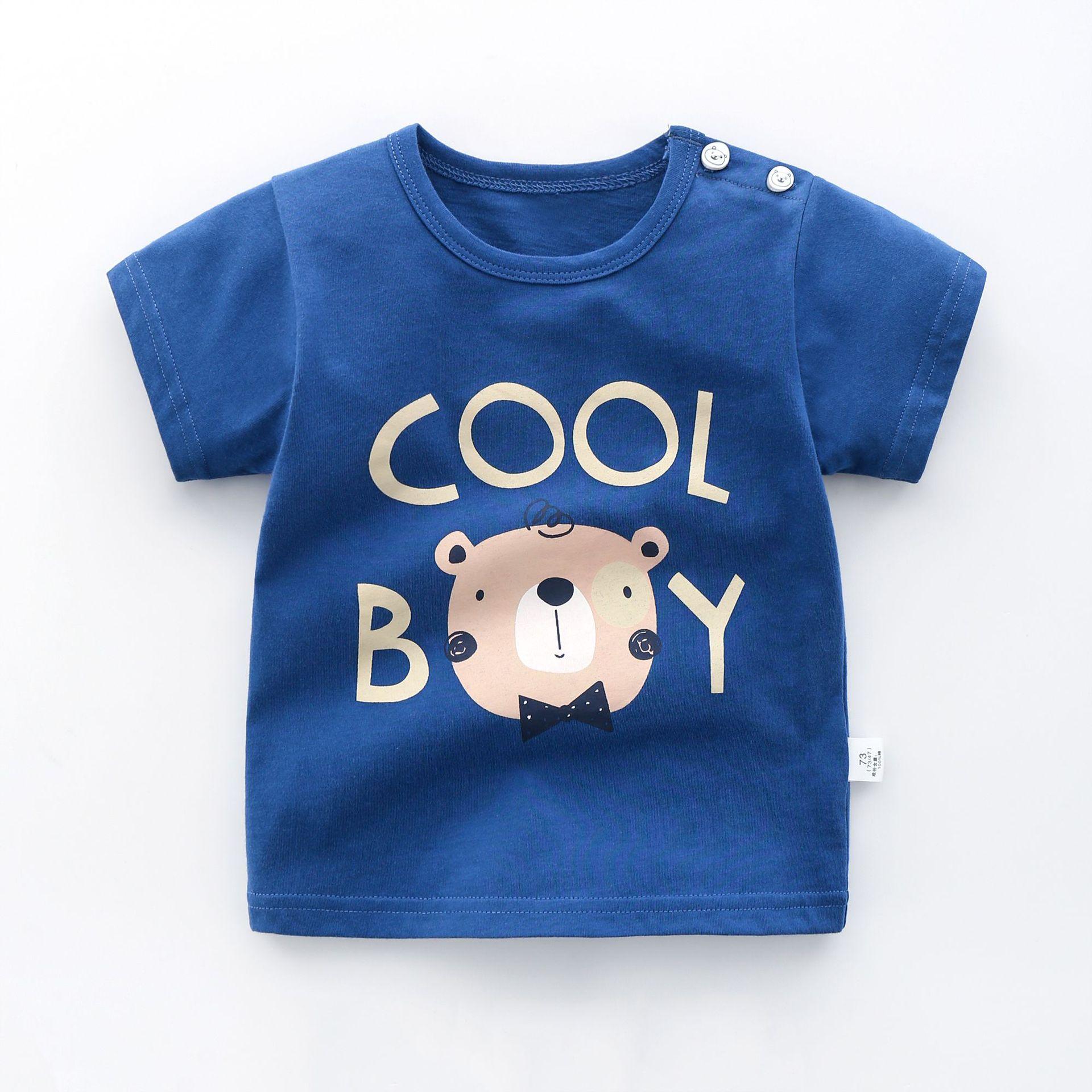 Summer Children's Wear Baby Kids T Shirts Girls Boys Clothes Tshirt Cotton Cartoon Printing Tops T-shirt Children Clothing-1