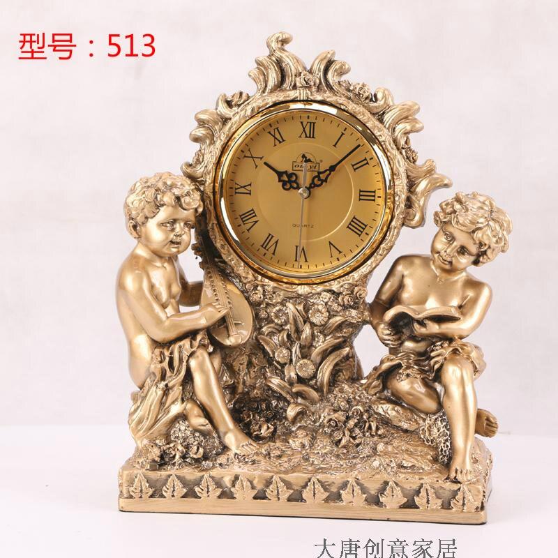 European style retro living room pendulum clocks fashionable silent art craft table clo
