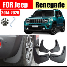 Mud flaps For jeep Renegade 2014-2020 Mudguards Fender Mud flap Splash Guard Fender Mudguard Accessories Front Rear 4 Pcs звуковая карта creative sound blaster x7 black