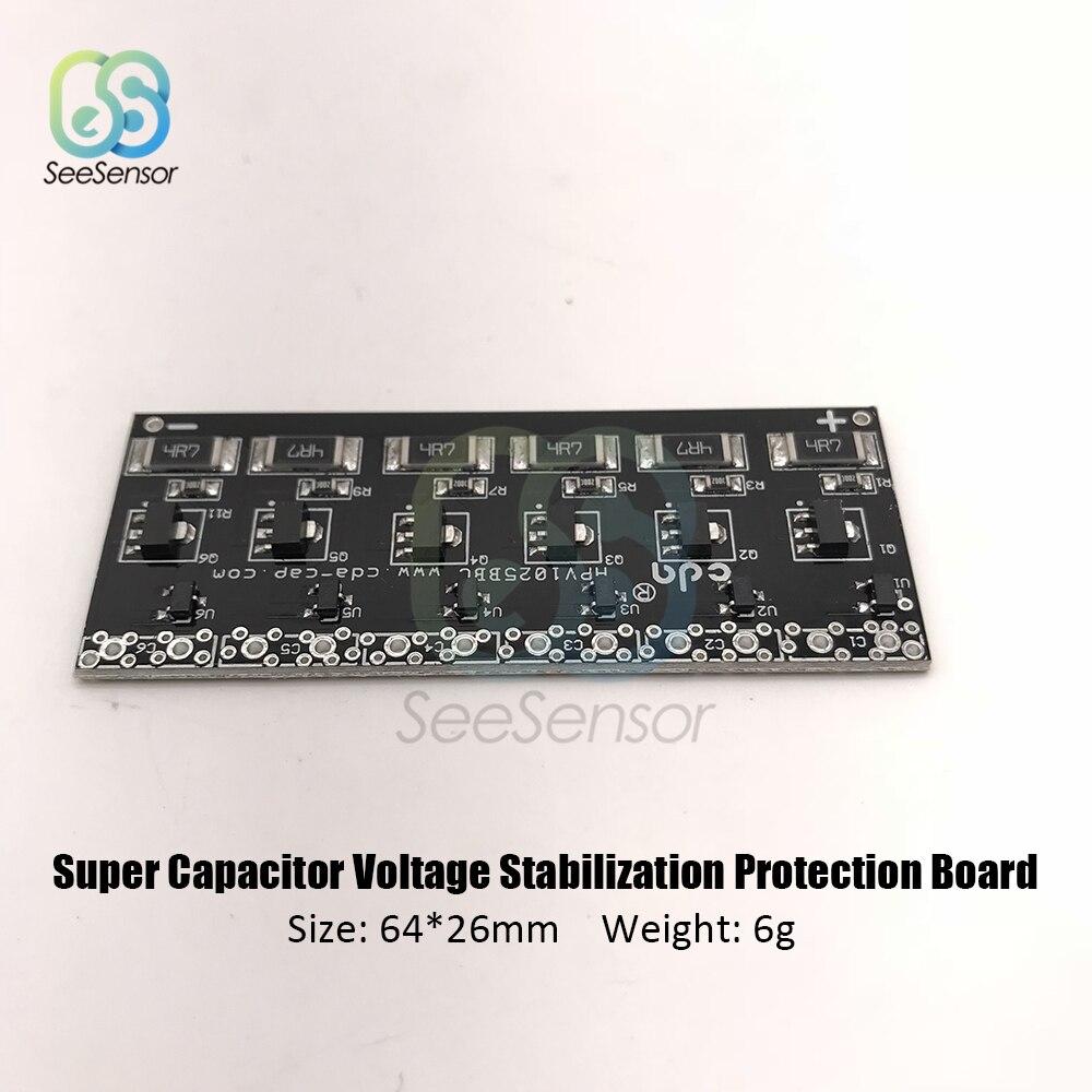 Tablero de equilibrio del tablero de protección del regulador de voltaje del súper condensador para 2,5 V 2,7 V 1F 2F 3.3F 4.7F 6.8F 8F 10F super Farad condensador