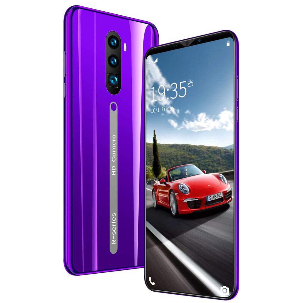 Rino3 Pro 5.8 Inch Screen Android Phone Purple Water Drop Screen Smartphone Solid Color Mobile Phone Cool Shape Fashion