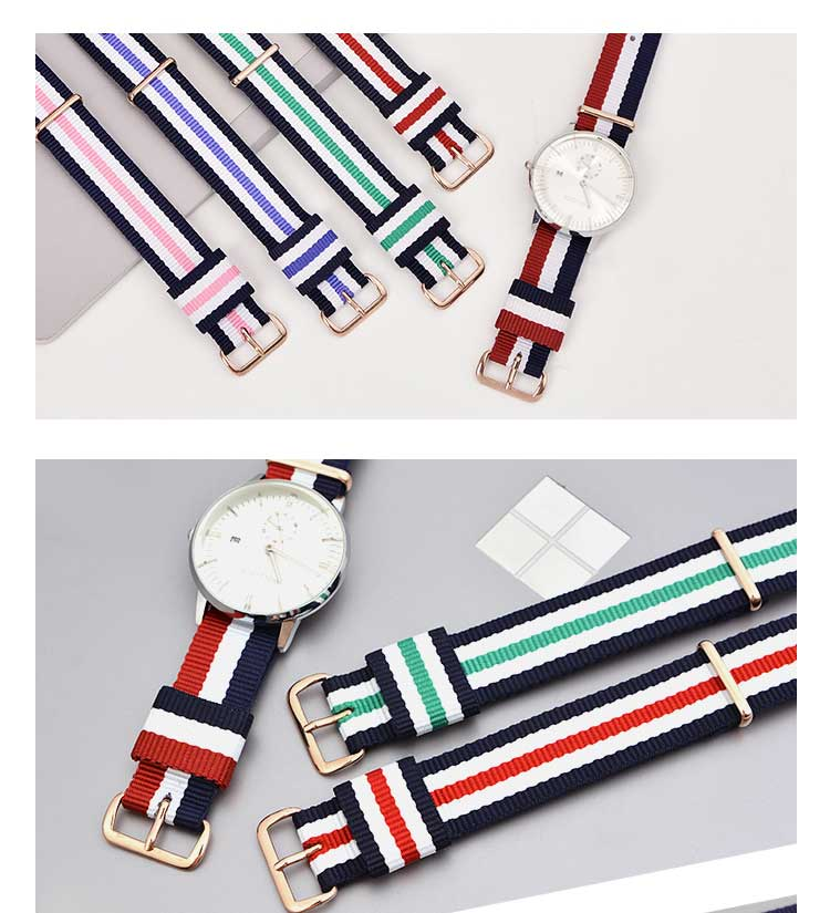 Nylon Watchband Silver Buckle For Daniel Wellington 13mm 14mm18mm 20mm Luxury Replace Bracelet Strap Watch Band For Dw Watch