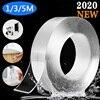 1M/3M/5M Nano Magie Band Waschbar Wiederverwendbare Doppelseitiges Klebeband Transparent Spurlose Aufkleber klebeband Abnehmbare Scheiben Kleber