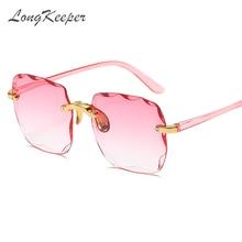 LongKeeper Luxury Vintage Square Sunglasses Women 2020 Brand
