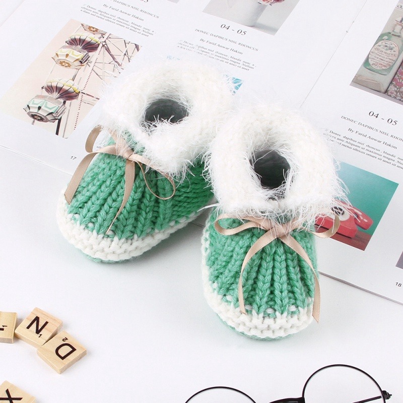 Autumn Winter Children Baby Shoes Cute Baby First Walkers Kids Newborn Toddler Warm Knitting Boots