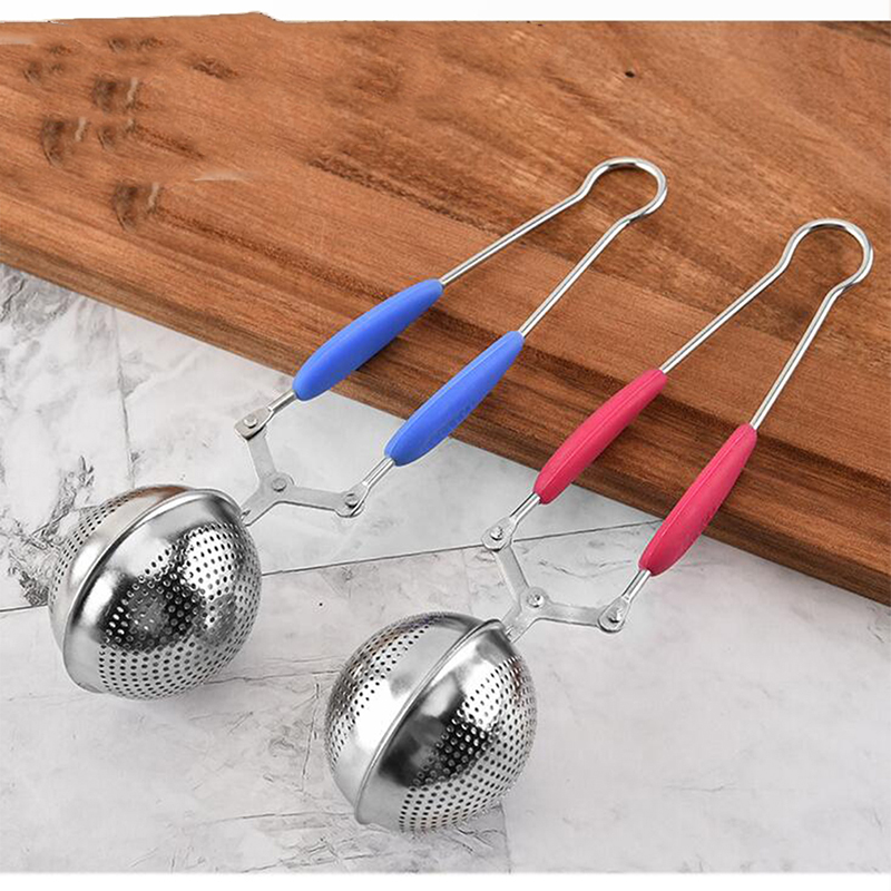 Stainless Steel Tea Infuser Sphere Mesh Filter Loose Tea Leaves Strainer Handle Kitchen Gadgets Tea Bag Tool Tea Strainer