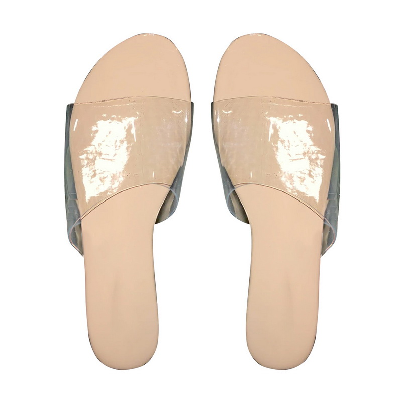 H1ad01823a72f43cd9f2fe7413cfcd3adb - Fashion Women Slippers Slides Clear Transparent Jelly Shoes Outdoors Female Sexy Summer Beach Shoes 2020 Female Footwear