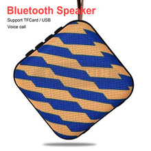 Portable Bluetooth Speaker High Quality Stereo Music Surround Boombox Cloth Wireless Speaker Support AUX TFCard Udisk FM(China)