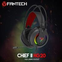 FANTECH HG20 PS4 casque casque filaire PC Gamer stéréo casque de jeu avec Microphone lumières rvb pour XBox One/ordinateur portable tablette