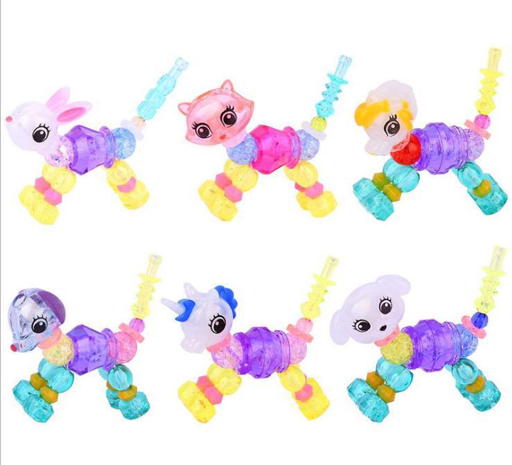 Magic Animal Transformation Lian Ai Elves Flexible Bracelets Twisted Beaded Bracelet CHILDREN'S Toy