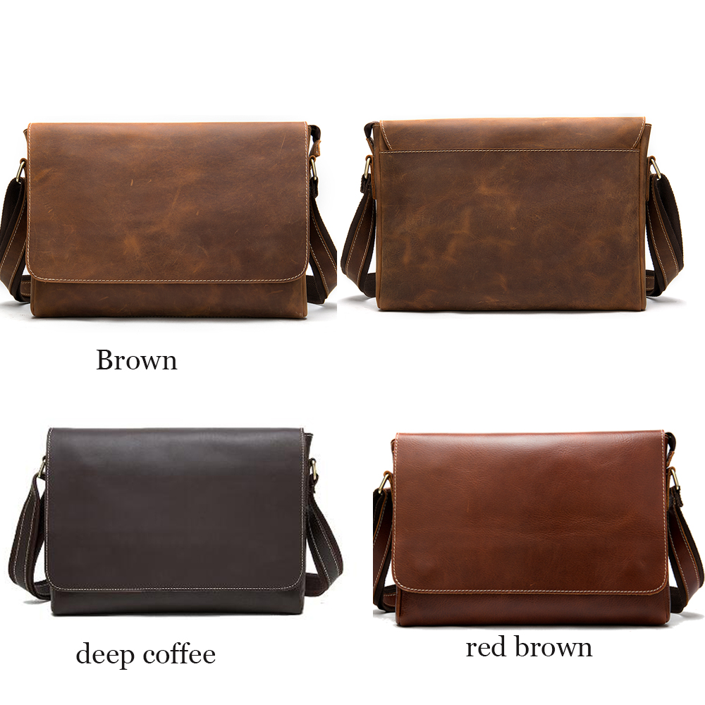 WESTAL maletines para hombres, bolso para ordenador portátil, bolsos de oficina, bolsas de mensajero para hombres, maletines de cuero Crazy Horse, bolso de negocios - 2