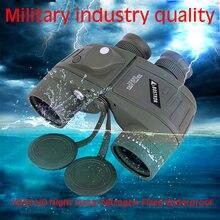 Полный Крытая компас военный бинокль 10х50 Ночное видение стабилизированный