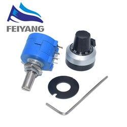 10 Uds. De potenciómetro multivuelta de precisión 3590S-2-103L, 3590S, 10K, 10 anillos de resistencia ajustable, con Dial de cuenta y botón giratorio