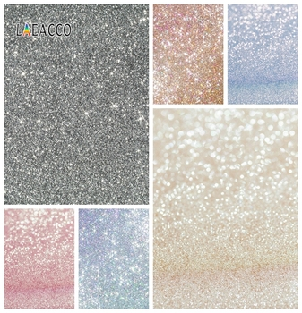 Laeacco Glitters Portrait Wedding Photocall Photography Backgrounds Chromakey Photo Backdrops Photozone Birthday For Photo Shoot kate photography backdrops smart watch wearable devices green screen chromakey backgrounds for photo studio