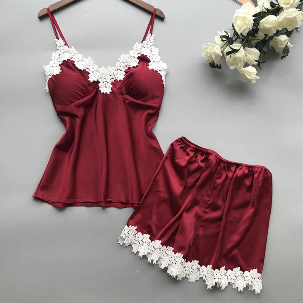 הנמכר ביותר נשים סקסי תחרת הלבשה תחתונה Nightwear Babydoll קצר הלבשת סט זרוק קניות פיג 'מות דה mujer