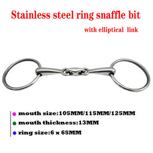 Snaffle-Bit Ring with Elliptical Link. BT0527 Stainless-Steel