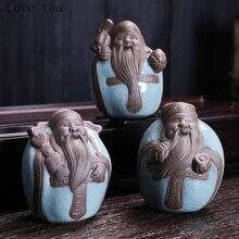 Fu Lu Shou Samsung tea pet pet Chinese birthday gift home birthday gift first insert the coffee table ceramic decoration