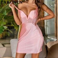 Женское платье fakuntn женская одежда 2021 сексуальные сетчатые
