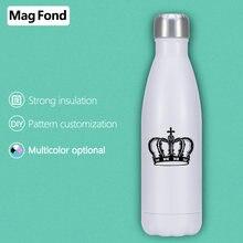 King 500 мл бутылка для воды из нержавеющей стали с двойными