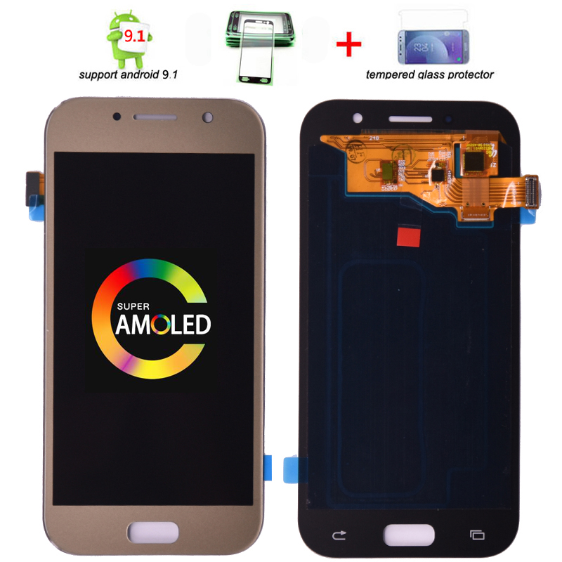 Super AMOLED LCD Replacement For <font><b>SAMSUNG</b></font> GALAXY A5 2017 Duos A520 <font><b>A520F</b></font> A520K LCD <font><b>Display</b></font> Touch Screen Digitizer Assembly image
