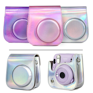 Image 3 - Futerał ochronny na aparat na ramię kolorowe wzory skórzana torba na aparat do Fujifilm Instax Polaroid Mini11 Mini 11 etui na torebki