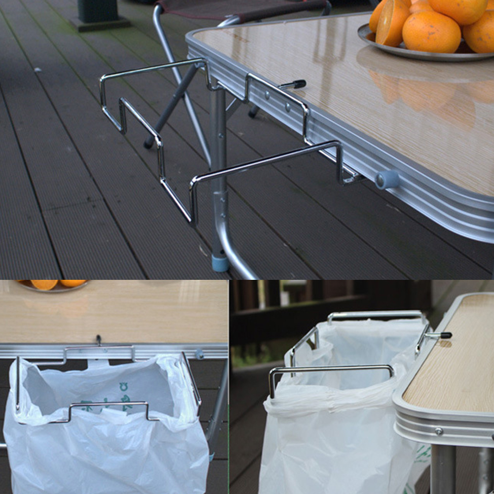 매달려 쓰레기 야외 여행 쓰레기 캠핑 쓰레기 봉투 홀더 실용적인 주방 휴대용 선반 도구 바베큐 스토리지 랙-에서휴지통부터 홈 & 가든 의